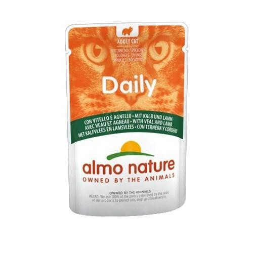 Almo Nature Daily ternera y cordero para gatos