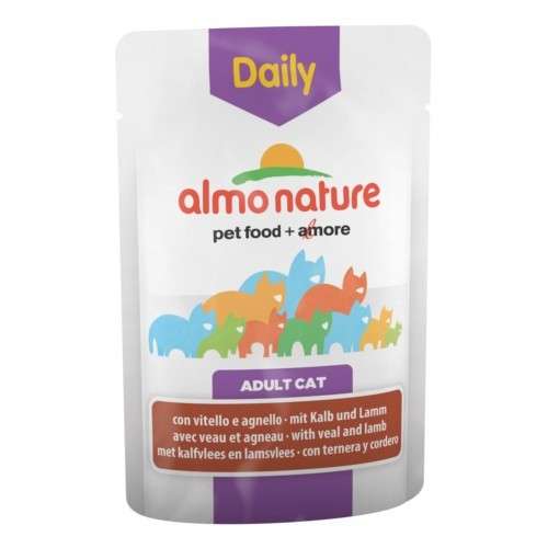 Almo Nature Daily ternera y cordero para gatos
