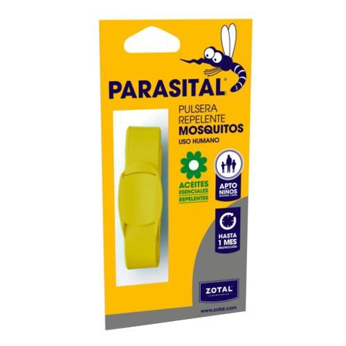 Pulsera repelente de mosquitos Parasital amarilla