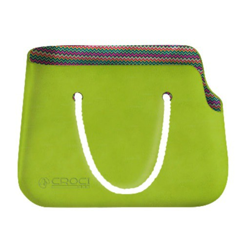 Bolso de silicona verde para perros y gatos