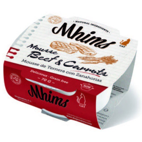 Mhims Mousse ternera con zanahorias para gatos
