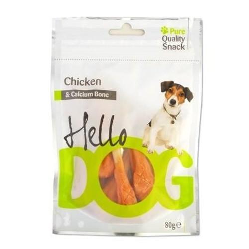 Snack natural Hello Dog pollo y calcio