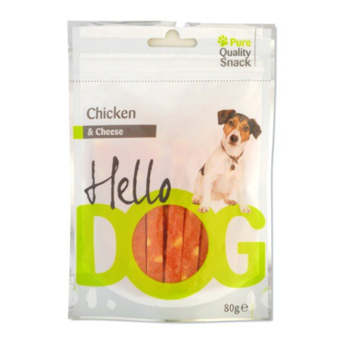 Snack natural Hello Dog pollo y queso