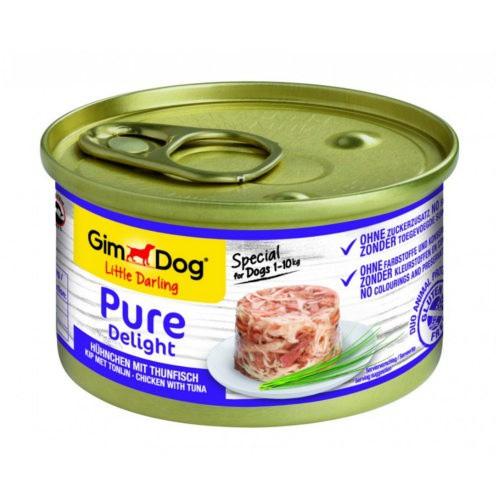 Comida húmeda GimDog Pure Delight pollo y atún