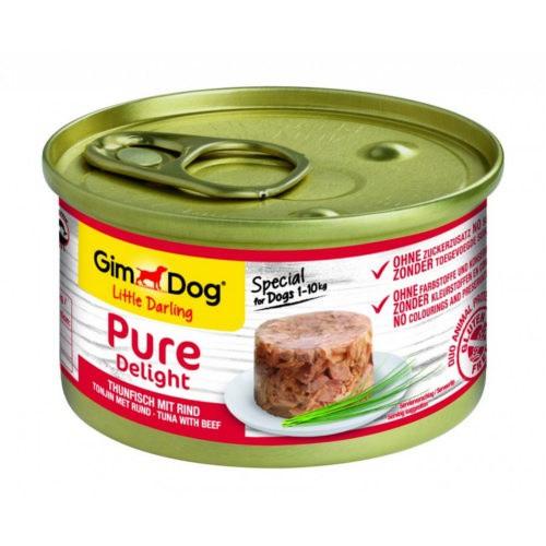 Comida húmeda GimDog Pure Delight atún y vacuno