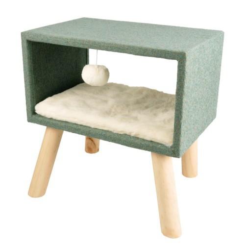 Cama Scandi Cube con patas para gatos