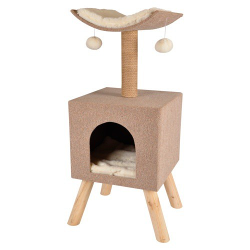 Scratching tree with house Scandi Home for cats
