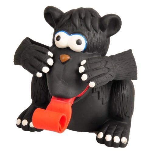 Gorila de látex con lengua para perros