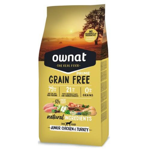 Pienso Ownat Grain Free Junior pollo & pavo