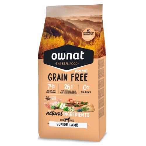 Pienso Ownat Grain Free Junior cordero