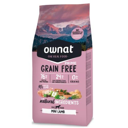 Pienso Ownat Grain Free Mini cordero