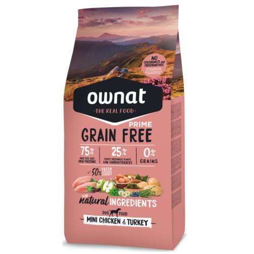 Pienso Ownat Grain Free Mini pollo y pavo