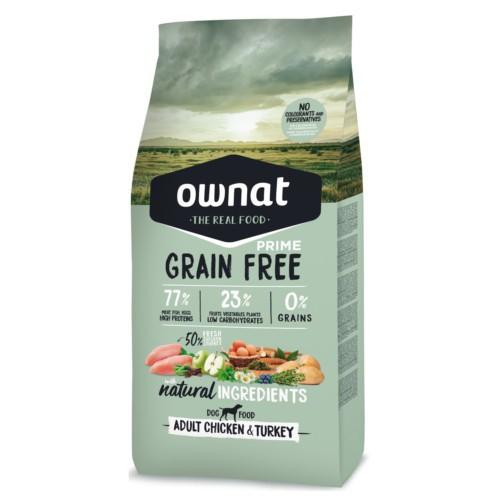 Pienso Ownat Grain Free Adult pollo y pavo