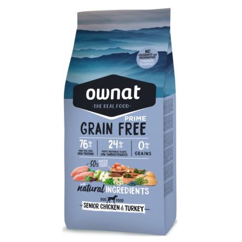 Pienso Ownat Grain Free Senior pollo y pavo