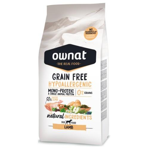 Pienso Ownat Grain Free Hypoallergenic cordero