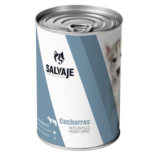 Salvaje Cachorros Paté con pollo, hígado y arroz