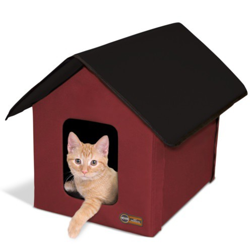 Waterproof fabric house for cats