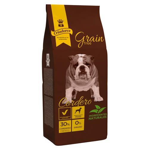 Pienso Criadores Grain Free Cordero razas medianas y grandes