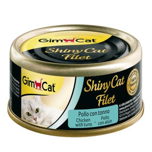 Comida húmeda Shiny Cat Filet pollo con atún