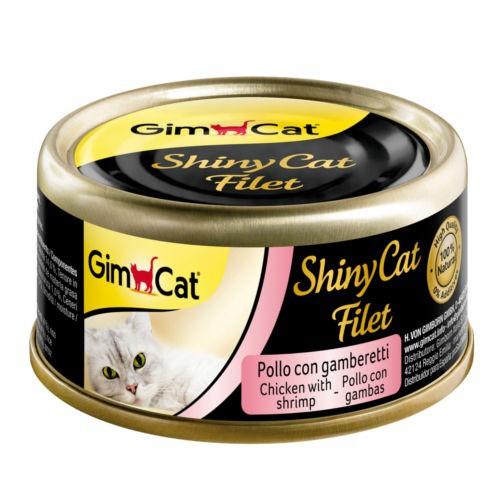 Comida húmeda Shiny Cat Filet pollo con gambas