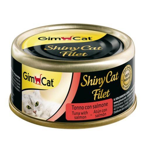 Comida húmeda Shiny Cat Filet atún con salmón