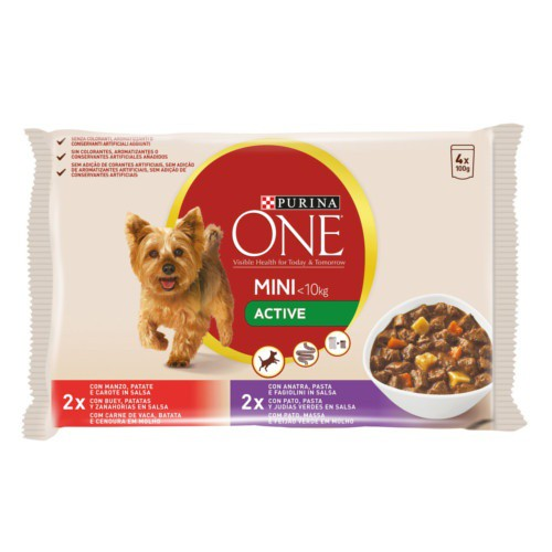 Purina One Mini Active Buey y pato en salsa