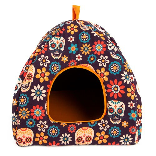 Cama iglú para perros y gatos TK-Pet Mex Party