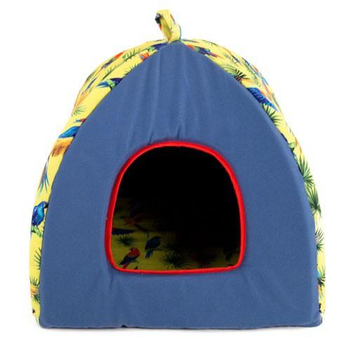 Cama iglú para perros y gatos TK-Pet Guacamayo