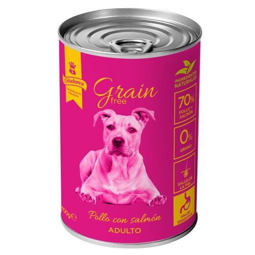 Criadores Grain Free húmedo Pollo & Salmón para perros