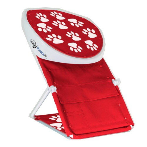Portable dog awning red