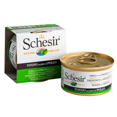 Comida húmeda Schesir atún con pollo