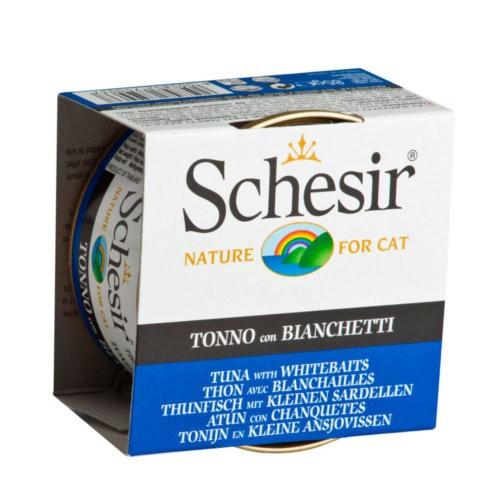 Comida húmeda Schesir atún con chanquetes