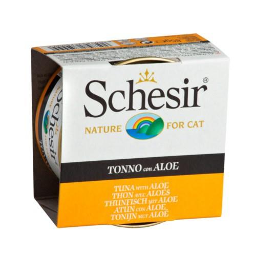 Comida húmeda Schesir atún con aloe