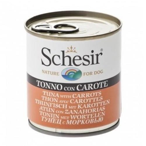 Comida húmeda Schesir atún con zanahorias