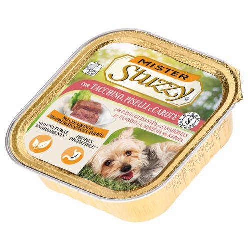 Comida húmeda Mister Stuzzy pavo con guisantes y zanahorias