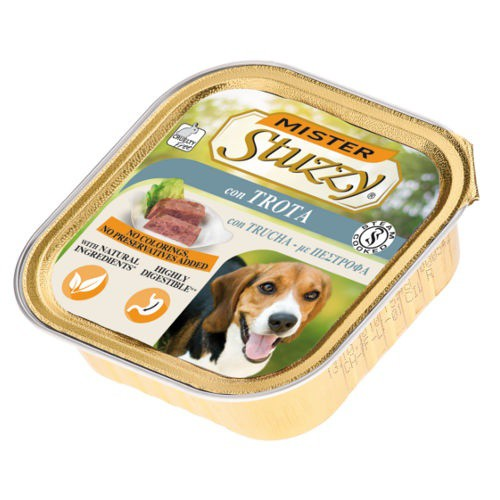 Comida húmeda para perros Mister Stuzzy trucha