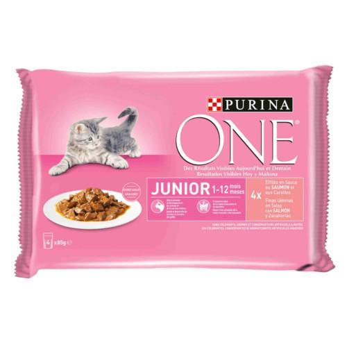 Purina One Junior Salmón en salsa