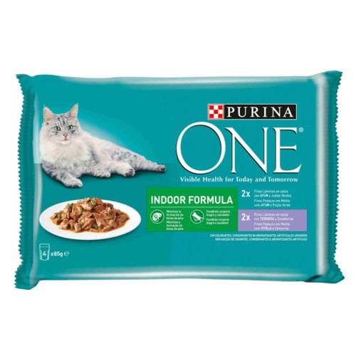 Purina One Indoor Atún y Ternera en salsa