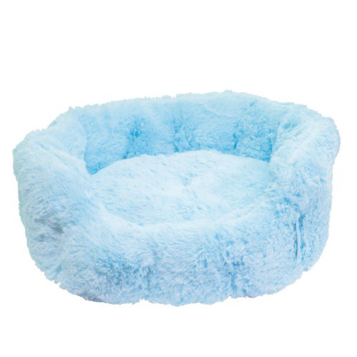 Blue soft round crib
