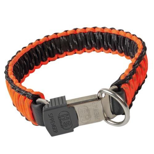 Collar paracaidista con cierre seguro naranja