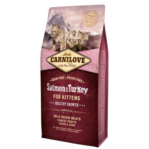 Pienso Carnilove Salmon & Turkey para gatitos