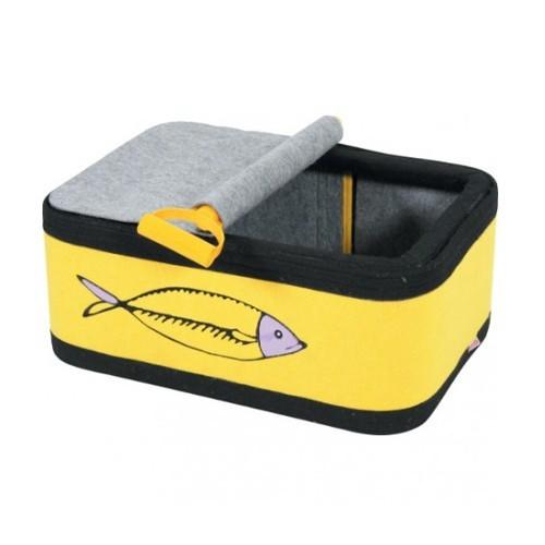 Cama lata de sardinas para gatos