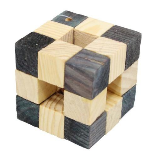 Juego cubo de madera para hámster