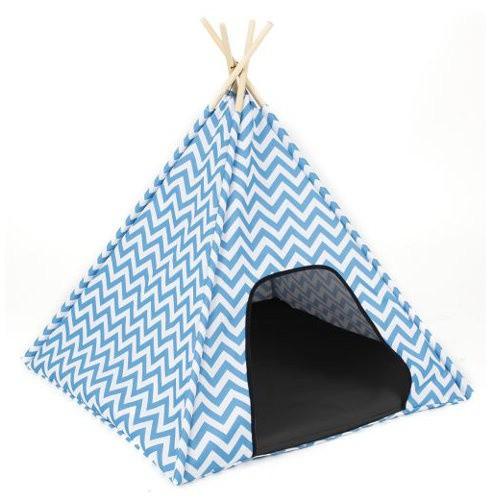 Tienda de campaña Zigo-zago azul
