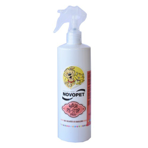 Spray Novopet Wash Pis-Stop para perros y gatos