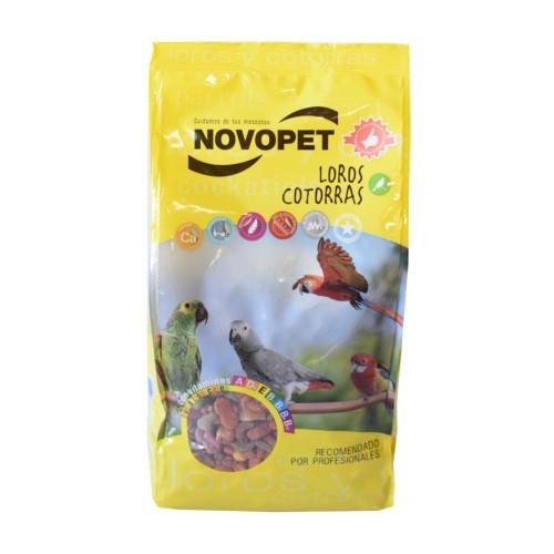 Pienso para loros y cotorras Novopet