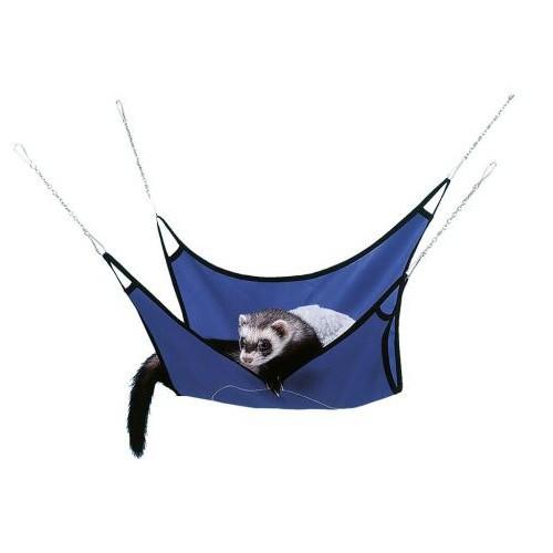 Hamaca de tela para hurones azul