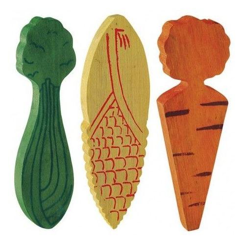 Verduras de madera para hámster