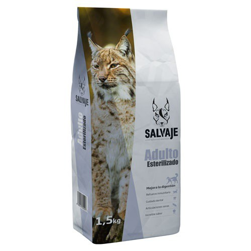 Food for cats Salvaje special sterilized with chicken