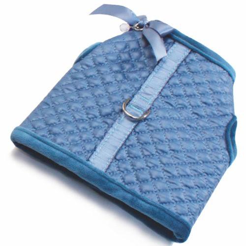 Abrigo con arnés Diamond azul para perros
